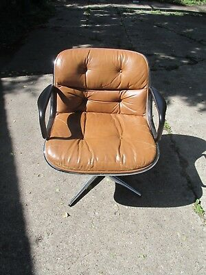Original 1965 Knoll Charles Pollock Executive Chair With All Original Labels