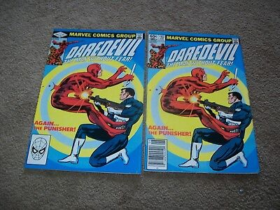 Daredevil 183 Vs Punisher Netflix Tv Show Direct Newsstand 2 Book Lot