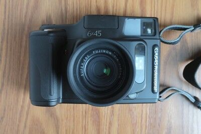 Fuji GA645 with Official Lens Hood and Film