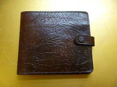 Vintage leather wallet 'Oak Calf' Made in England