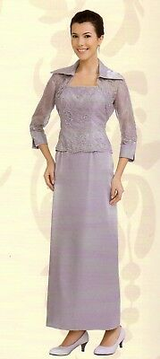 MOTHER OF THE Bride Groom Dress, Plus Size Formal Gowns, Evening Wear w/  Jacket