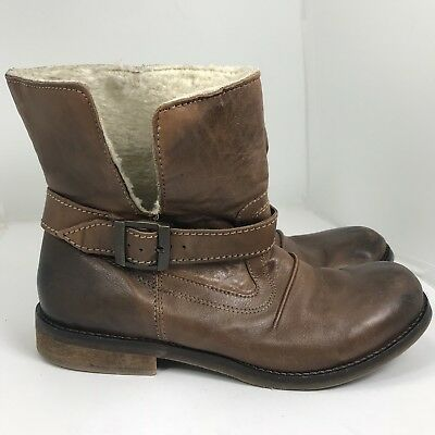 e962a603ca065 ALDO BROWN LEATHER Lined Ankle Boots Women 40 9 -  22.99