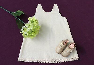 Antique Wool Baby Slip, 1910s, with Crocheted Lace, Handmade in Skagit Co WA