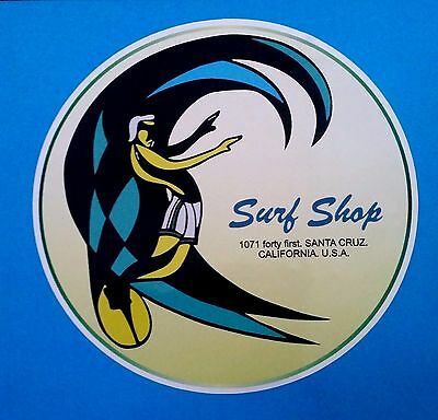 SURF SHOP ONEILL 70s SANTA CRUZ STICKER DECAL Surfboard Longboard Surfing Malibu