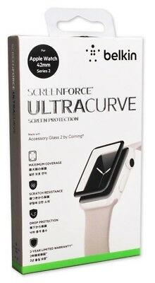 NEW! Belkin ScreenForce UltraCurve Screen Protector 42mm Apple Watch Series 2 /3