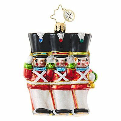 NIB 2017 Christopher Radko Merry Marchers Little Gem Toy Soldiers Ornament