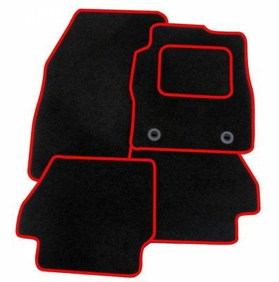 FORD FIESTA MK7 2009-2011-Tailored Fitted Carpet Car Floor BLACK MATS RED EDGING