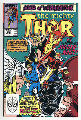 Thor #412 Vf/nm 1St Full Appearance Of New Warriors Marvel Comics