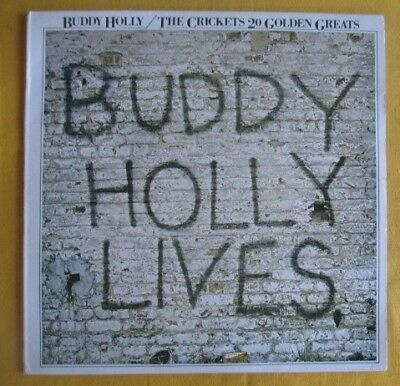 Buddy Holly & The Crickets Lp- Lives, 20 Golden Greats