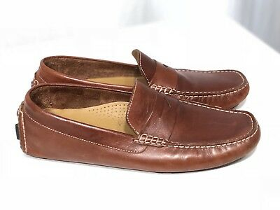 b095e29ab77 Cole Haan Men s 8.5 M Brown Leather Driver Penny Loafer Moc Driving Shoe