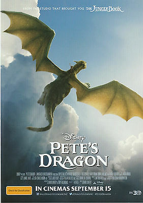 Promotional Movie Sheet - PETE'S DRAGON (2016) (Disney, Robert Redford)