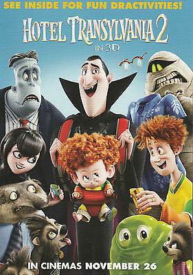 Promotional Movie Sheet - HOTEL TRANSYLVANIA 2 (2016) (Adam Sandler)