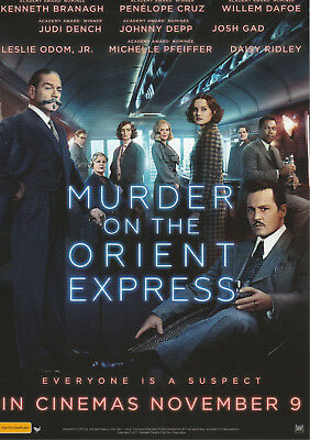 Promotional Movie Sheet - MURDER ON THE ORIENT EXPRESS (2017) ***Johnny Depp***