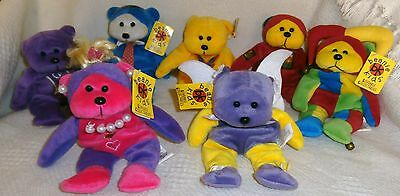 Collectable Lot Of 7 Beanie Kids~All With Tags