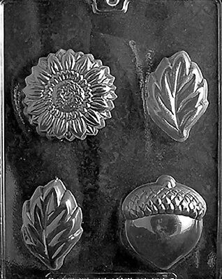 4 Leaf/Flower/Acorn SOAP Moulds .... SOAP MOULD .... #F103