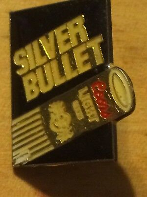 Vintage Coors Light Silver Bullet Enamel Hat Lapel Pin Collector Beer Can