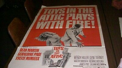 Old Authent Dean Martin Toys in the Attic plays with fire 1 Sheet Movie Poster