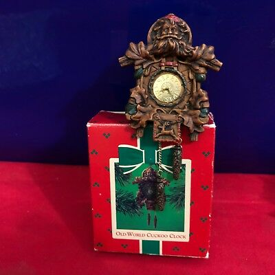 Hallmark Ornament Old World Cuckoo Clock 1984 S5