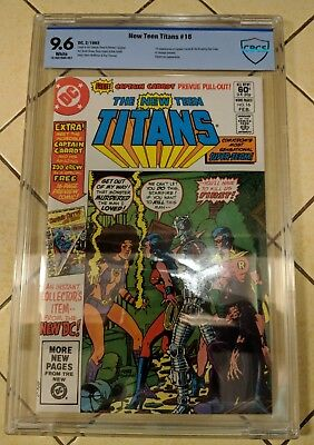 The New Teen Titans #16 Cbcs 9.6! 1St Appearance Of Captain Carrot!!!