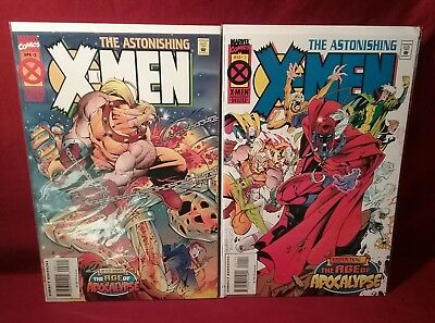 Astonishing X-Men #1 #2 1995 Marvel  Age of Apocalypse VF/NM