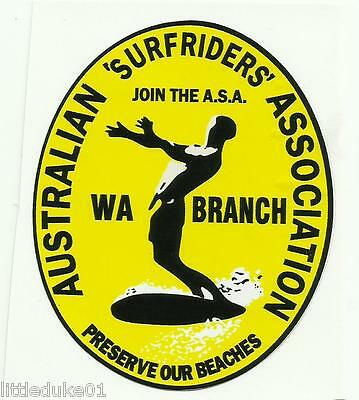 AUSTRALIAN SURFRIDERS WESTERN ASSOC Sticker Decal Surfboard Longboard Skateboard