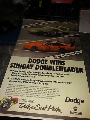 lot 2 ads plymouth superbird daytona 70 scat pack poster racing photo dodge
