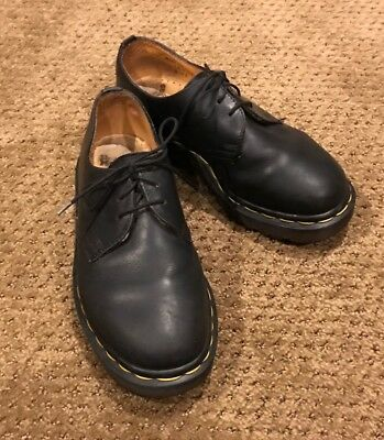 great fit presenting new concept VTG DR DOC Martens Black Oxford Shoes 3 Eye Lace Up 1461/59 ...
