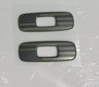 New Military American Flag PAIR (2) of Oakley Gascan replacement icons/stickers