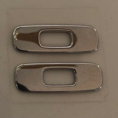 Chrome PAIR (2) of Oakley Gascan replacement icons/stickers