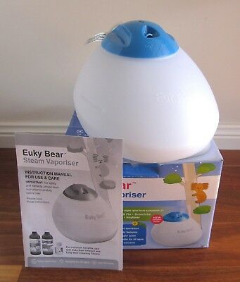 Euky Bear Steam Vaporiser for Treatment of Colds & Flu. In Excellent Condition.