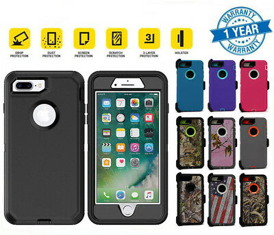 For iPhone 7 / 8 Plus Shockproof Case Belt Clip | Fits Otterbox Defender Series