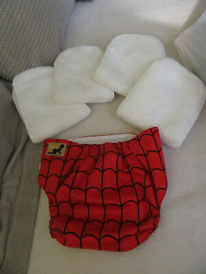 8 Baby Nappies ie. 4x Bum Wraps 4x JumJums 4 microfibre liners The lot *REDUCED*