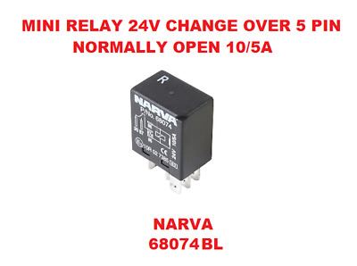 Mini Relay 24V Change Over 5 Pin Normally Open 10/5A  NARVA 68074
