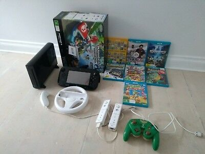 Nintendo Wii U Premium Pack Black 32 GB Console with games and accessories