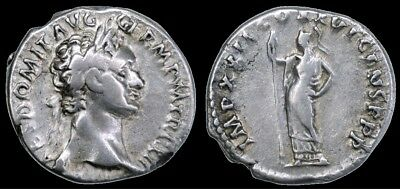 Domitian AR Denarius, AD 92-93, Rome, Minerva with spear (RIC² 742)
