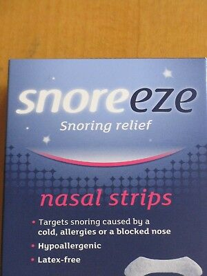 SNOREEZE NASEL STRIPS  X 20 FOR SNORING RELIEF small/medium or large available