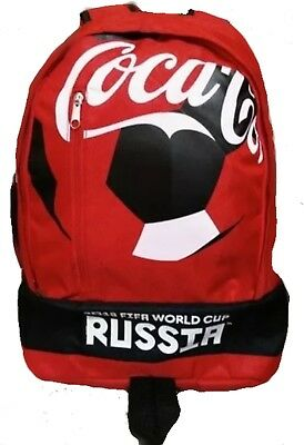 New Red Coca Cola Backpack ⚽ Fifa World Cup Russia 2018 ⚽ Coke Mexico School Bag