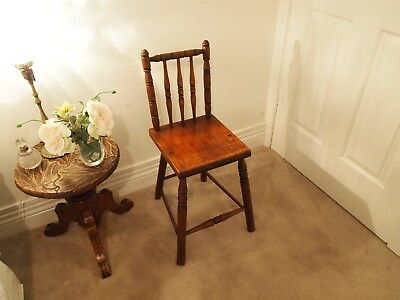 Vintage cottage chair with turned legs and back shabby provincial country