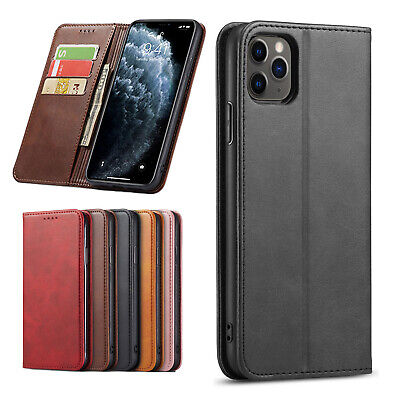 iPhone XS Max XR 8 7 6s Plus Luxury Slim Leather Wallet Flip Case Cover
