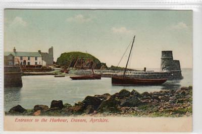 ENTRANCE TO THE HARBOUR, DUNURE: Ayrshire postcard (C33134)
