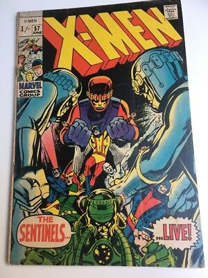 Uncanny X-men #57 Volume 1 (1969 series), Silver Age vg/fn Marvel Comics Rare