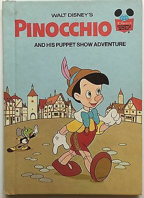 Vintage 1973 Pinocchio And His Puppet Show Adventure Disney Book Club Edition HC