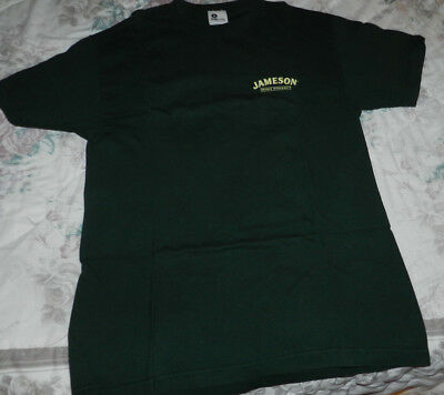 Jameson Irish Whiskey - Size L T-Shirt- double sided-What's the rush?