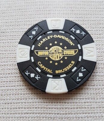 1 originaler Harley Davidson Pokerchips Capital Brüssels