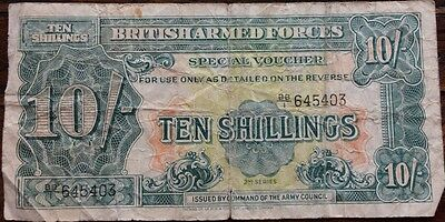 Military Currency, 10 shillings, British Armed Forces Special Voucher