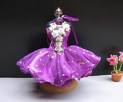 Tutu Ballerina Ballet Handmade Outfit Costumes Purple for Barbie, Doll Clothing