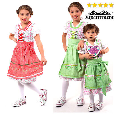 Authentic German Dirndl, Oktoberfest Dress German Church Dress For Kids 3pcs NEW