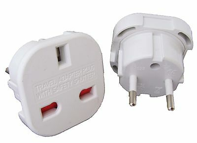 Universal Uk Plug Adapter To Eu Europe Spain Italy Germany France