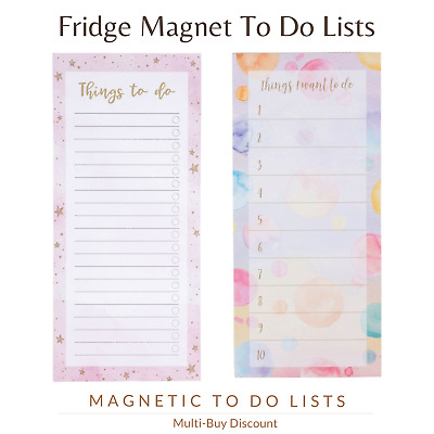 Notepad To Do List Reminder Tasks Planner Fridge Magnet Productivity Pad Board