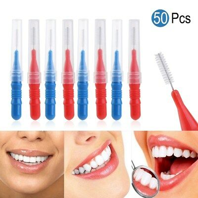 Cepillo interdental dental 50pcs Oral Clean Teeth Stick Floss Pick